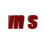 ms logo initial red and shadow