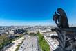 notre dame gorgoyle paris view city scape