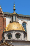 Golden Dome of the Sigismund Chapel, Wawel Cathedral, Krakow, Poland