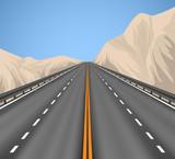 Superhighway scenery vector transportation nature background