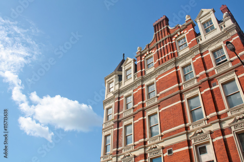 London building in Victorian Architecture Style Poster