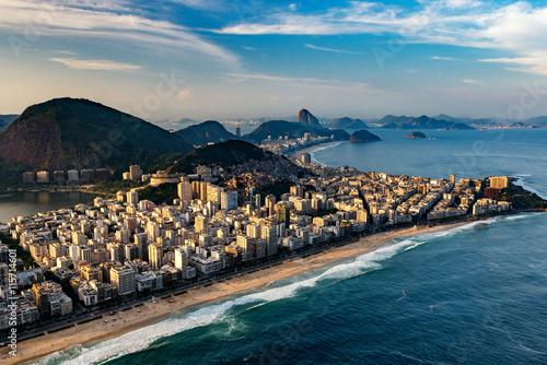 Canvastavla Ipanema beach in Rio de Janeiro