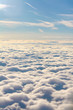 Flying over the clouds