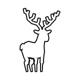 Animal concept represented by reindeer icon. Isolated and flat illustration
