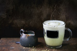 Matcha latte with milk