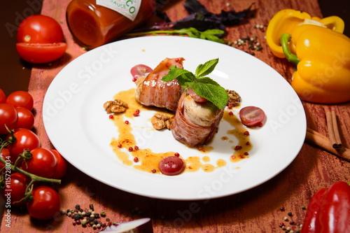 obraz PCV Ресторанное блюдо