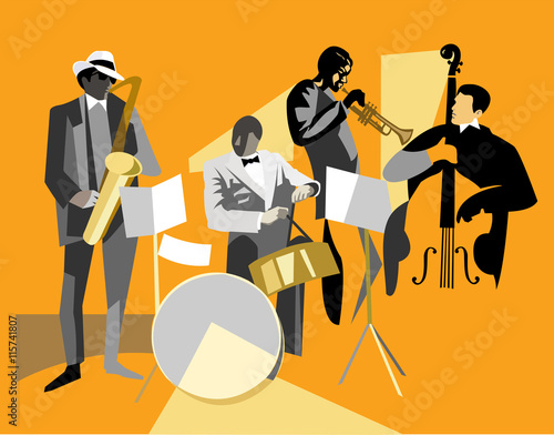 Fototapeta Jazz musicians