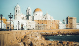 Cathedral and  embankment in Cadiz