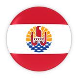 Tahitian Flag Button - Flag of Tahiti Badge 3D Illustration - 115747803