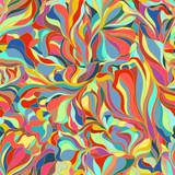 Naklejka floral seamless pattern