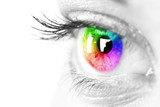 Fototapety Colorful eye Space for text.
