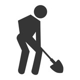 Worker with tools pictogram design, vector illustration graphic.