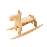Wooden rocking horse toy isolated on white