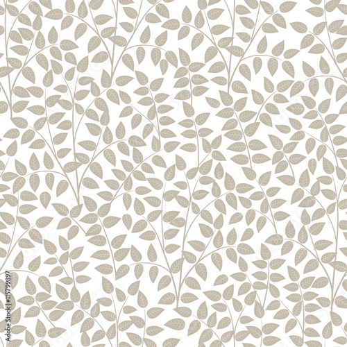 Fototapeta Seamless patterns from leaves and twigs