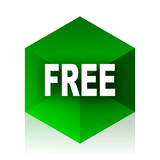 free cube icon, green modern design web element