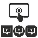 Digital interaction - vector icon.