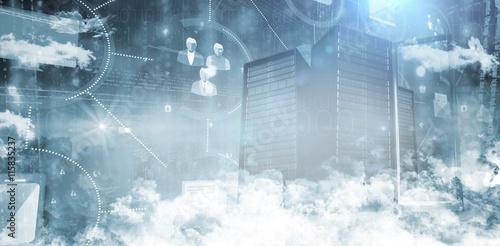 Foto Murales Servers in the clouds