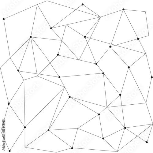 scandinavian geometric modern seamless pattern Poster