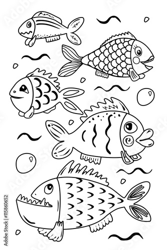 Gamesageddon Kleine Fische Große Fische Lizenzfreie Fotos