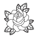 floral  tattoo isolated icon design, vector illustration  graphic