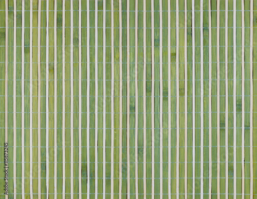 Fototapeta Dried bamboo mat for roll food, bamboo texture background