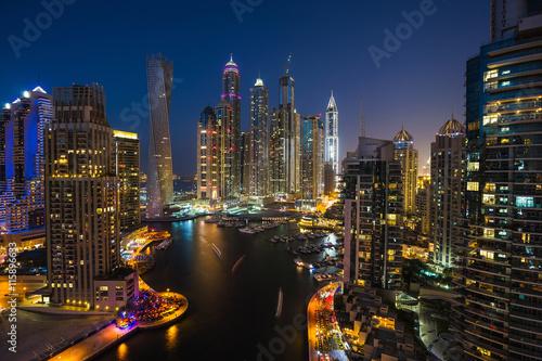 Foto op Aluminium New York Dubai Marina. UAE