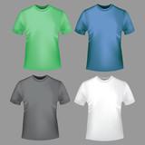 цветной набор мужские футболки