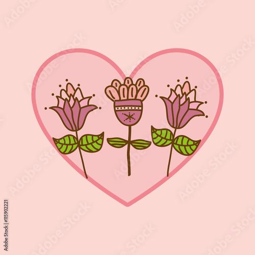 Zdjęcia na płótnie, fototapety, obrazy : flower heart rose