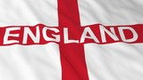 English Flag with England Text 3D Illustration