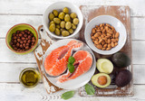 Food sources of  healthy fats.