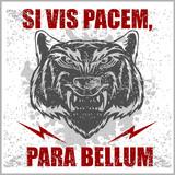 Monochrome Latin quotation Si vis pacem para bellum