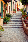 Street in Valldemossa village in Mallorca