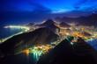 Quadro Night view of Rio de Janeiro