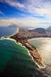 Quadro Copacabana Beach and Ipanema beach in Rio de Janeiro, Brazil