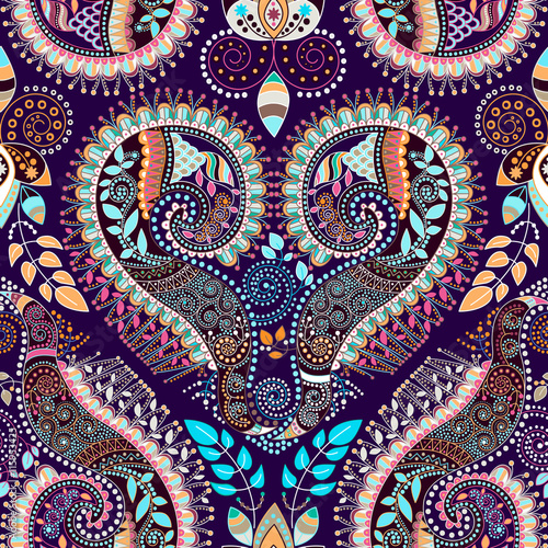Colorful decorative pattern. Ethnic background - 115953425