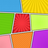 Fototapety Colorful comic background
