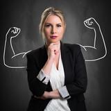 junge erfolgreiche Geschäftsfrau