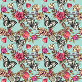 seamless pattern flowers