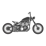 Old vintage bobber bike. cafe racer theme