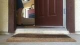 Man receives package box  at door