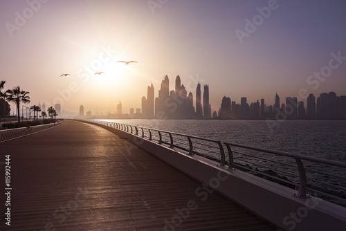 Dubai Skyline Boardwalk Poster