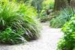 Leinwandbild Motiv Erholung im Garten, Gartenweg, Weg