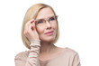 Quadro Beautiful woman in glasses