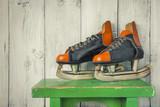 Old hockey skates