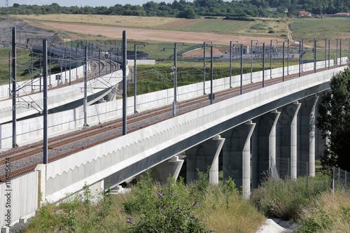Papiers peints Voies ferrées LGV SEA ligne à grande vitesse Sud Europe Atlantique Paris Bordeaux Raccordement de Poitiers nord