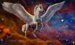 Постер, плакат: Пегас и звездное небо