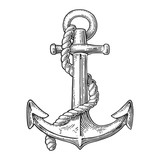 Anchor isolated on white background.