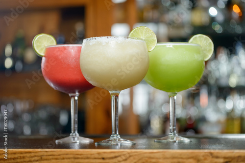 Colorful Traditional Mexican drinks