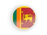 Flag of sri lanka. Round icon with frame