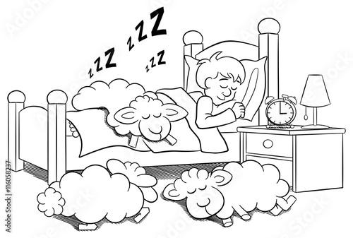 Gamesageddon Schafe Schlafen Auf Dem Bett Eines Schlafenden Mannes